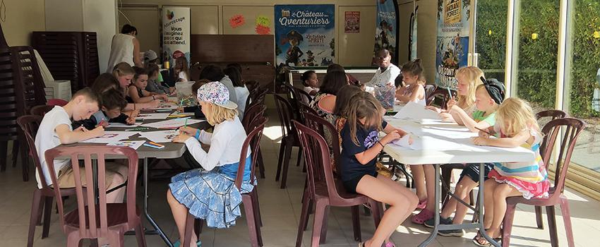 animations pour enfants au camping les Mancellières